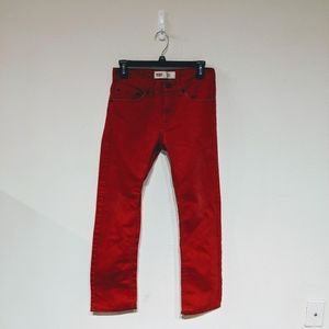 Levi's vintage red straight leg jeans size 00